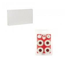 Радиатор стальной ISI 500x800 боковой + Комплект для подключения радиаторов