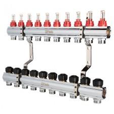 Коллектор FADO с расходомерами 1х3/4 10 выходов