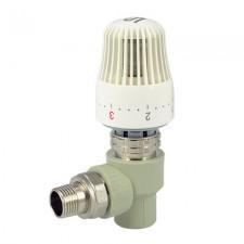 ПП Кран радиаторный с термоголовкой угловой FADO 20x1/2
